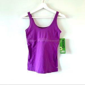 Alo Yoga Pure Tank w/ shelf bra in Sparkling Iris